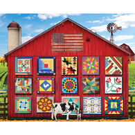 White Mountain Jigsaw Puzzle - Barn Quilts