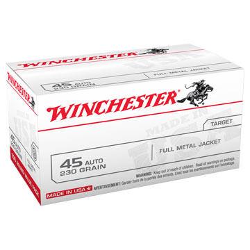 Winchester USA 45 Auto 230 Grain FMJ Handgun Ammo (100)