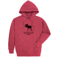 Original Design Men's Kittery Trading Post Black Moose Hooded Sweatshirt