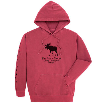 Original Design Mens Kittery Trading Post Black Moose Hooded Sweatshirt