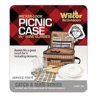 Wilcor Faux Wicker Picnic Case
