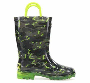 Western Chief Boys Surf Camo Lighted Rain Boot