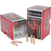 "Hornady ELD-Match 22 Cal. 75 Grain .224"" Heat Shield Tip BT Bullet (100)"