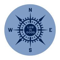 Life is Good LIG Compass Magnet