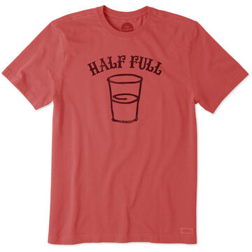 Life is Good Mens Half Full Crusher Short-Sleeve T-Shirt