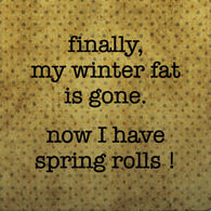 Paisley & Parsley Designs Finally My Winter Fat Is Gone Marble Tiles Coaster
