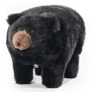 Carstens Inc Midnite Black Bear Foot Stool