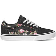 Vans Women's Ward Roses Suede Canvas Slip-On Sneaker