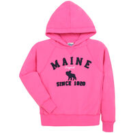 Lakeshirts Girl's Blue 84 Maine Moose Since 1820 Sweatshirt