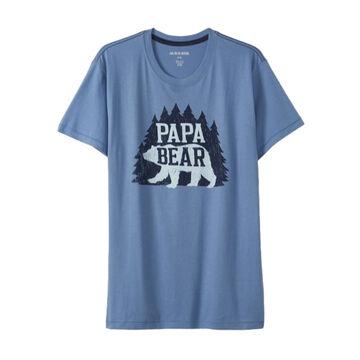 Hatley Little Blue House Mens Woods Papa Bear Short-Sleeve Sleep T-Shirt