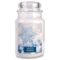 Village Candle Large Glass Jar Candle - Winter Sparkle