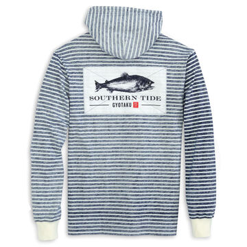 Southern Tide Mens Gyotaku Striped Long-Sleeve Hoodie
