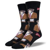 Socksmith Design Men's Monkey Business Crew Sock