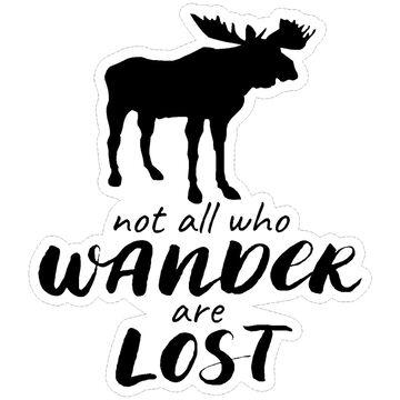 Sticker Cabana Wandering Moose Sticker
