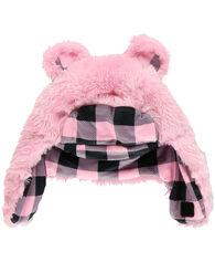 Lazy One Toddler Girl's Pink Bear Critter Cap