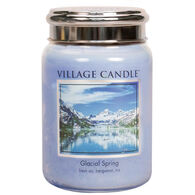 Village Candle Large Glass Jar Candle - Glacial Spring