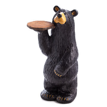 Big Sky Carvers Waiter Bear Grand Figurine