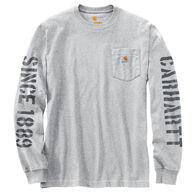 Carhartt Men's Workwear Double Sleeve Graphic Long-Sleeve Pocket T-Shirt