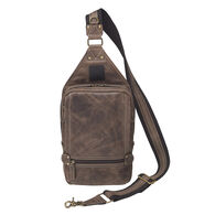 Gun Tote'n Mamas GTM–CZY/108 Distressed Leather RFID Concealed Carry Sling Backpack