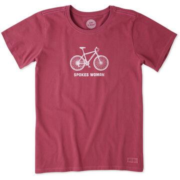Life is Good Womens Spokes Women Crusher Short-Sleeve T-Shirt