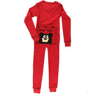 Lazy One Toddler Bear Bum Flap Jack Union Suit