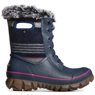 Bogs Women's Arcata Stripe Lace Up Waterproof Winter Boot