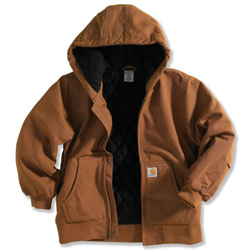 Carhartt Boys Active Jac Flannel Quilted-Lined Jacket