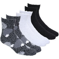 Gina Women's Laundry Dots/Solid Plush Ankle Sock, 3/pk