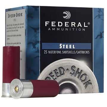 "Federal Speed-Shok Steel 12 GA 3"" 1-1/4 oz. BB Shotshell Ammo (25)"