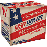 Winchester USA VALOR 5.56 / M855 62 Grain FMJ Green Tip Rifle Ammo (125) - Limited Edition