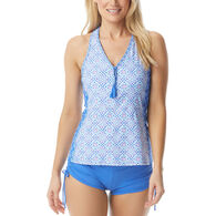 Beach House - Swimwear Anywear Women's Erinna Ahoy There Racerback Zip Front Tankini Top Swimsuit