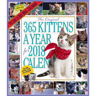 The 365 Kittens-A-Year Picture-A-Day 2018 Wall Calendar by Workman Publishing