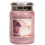 Village Candle Large Glass Jar Candle - Cozy Cashmere