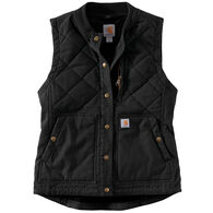 Carhartt Women's Rugged Flex Canvas Insulated Rib Collar Vest