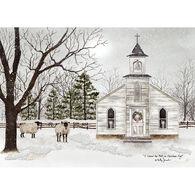 LPG Greetings Peaceful Church Boxed Christmas Cards
