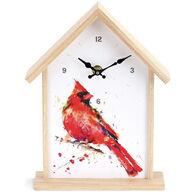 Big Sky Carvers Cardinal Birdhouse Clock