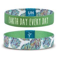 Unselfie Women's Earth Day Foliage Pattern Wrist Band