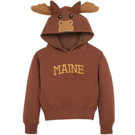 Wild Child Hoodies Boys' & Girls' Brown Moose Hooded Sweatshirt