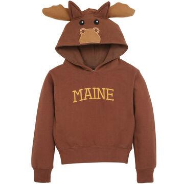 95d95aaa Wild Child Hoodies Boys' & Girls' Brown Moose Hooded Sweatshirt ...