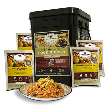 Wise 52 Serving Prepper Pack Grab & Go Food Kit