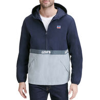 Levi's Men's Retro Color Block Hooded Pullover Jacket