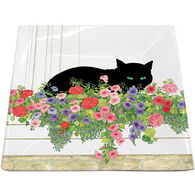 Paperproducts Design Black Cat Flower Box Plate