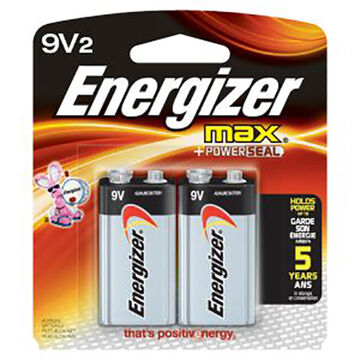 Energizer MAX 9 Volt Battery - 2 Pk.