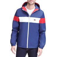 Levi's Men's Color Block Hooded Rain Jacket