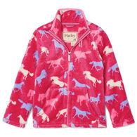 Hatley Girl's Horse Silhouettes Fuzzy Fleece Zip-Up Long-Sleeve Top