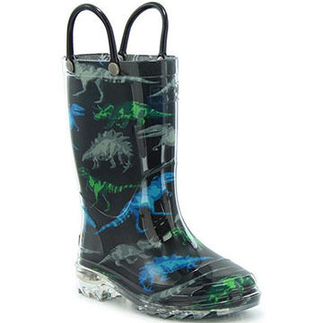 Western Chief Boys Dinosaur Friends Lighted Rain Boot
