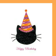 Quilling Card Cat Birthday Card