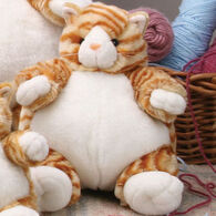 "Unipak Designs Plush 9"" Tabby Cat Plumpee"
