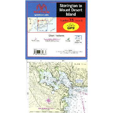 Stonington to Mount Desert Island Waterproof Chart by Richardsons' Maptech