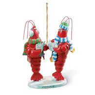 Cape Shore Resin Caroling Lobsters Ornament